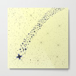 Dark Falling Star Metal Print