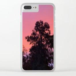 Pretty orange sunset Clear iPhone Case