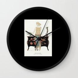 Vintage Glamour Retro Fashion Art Wall Clock