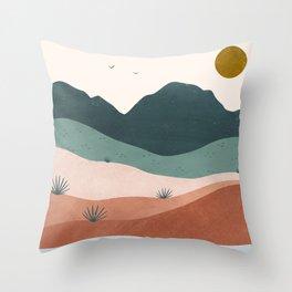 terra serena Throw Pillow