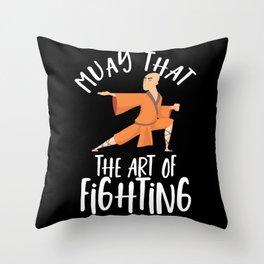 Muay Thai Fighters - Nak Muay, Kickboxing Throw Pillow