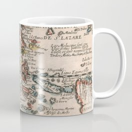 Vintage Map of Indonesia and The Philippines (1659) Coffee Mug