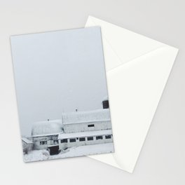 White Barn in Winter Stationery Cards