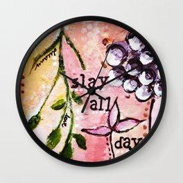 Slay by Artseespree Wall Clock