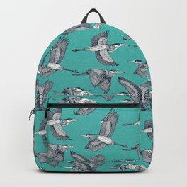 great blue herons verdigris Backpack