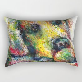 Bulldog watercolour print Rectangular Pillow
