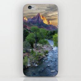 Sunset on the Virgin River - Zion National Park iPhone Skin