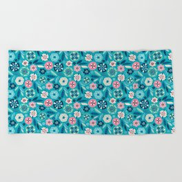 Flower Pop Beach Towel