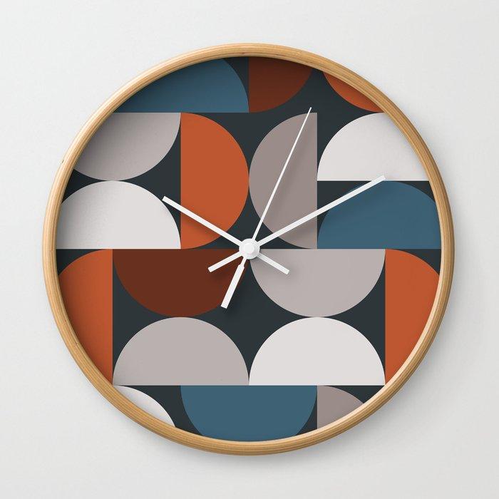 Mid Century Modern Geometric 24 Wall Clock By Theoldartstudio Society6