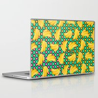 banana Laptop & iPad Skins featuring banana by mark ashkenazi