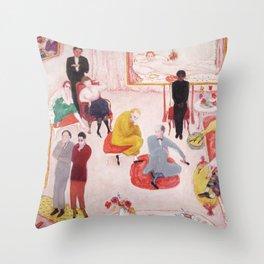 """Florine Stettheimer """"Studio Party, or Soiree"""" Throw Pillow"""