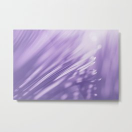 Ultra Violet Palm Tree Pattern| Trendy color of year 2018 Metal Print