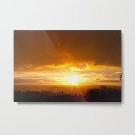 Sunset in Spring  Metal Print