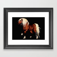 HORSE - Black Forest Framed Art Print