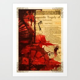 Titus Andronicus - Bloody Shakespeare Tragedy Folio Illustration Art Print