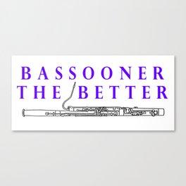 Bassoon Canvas Print