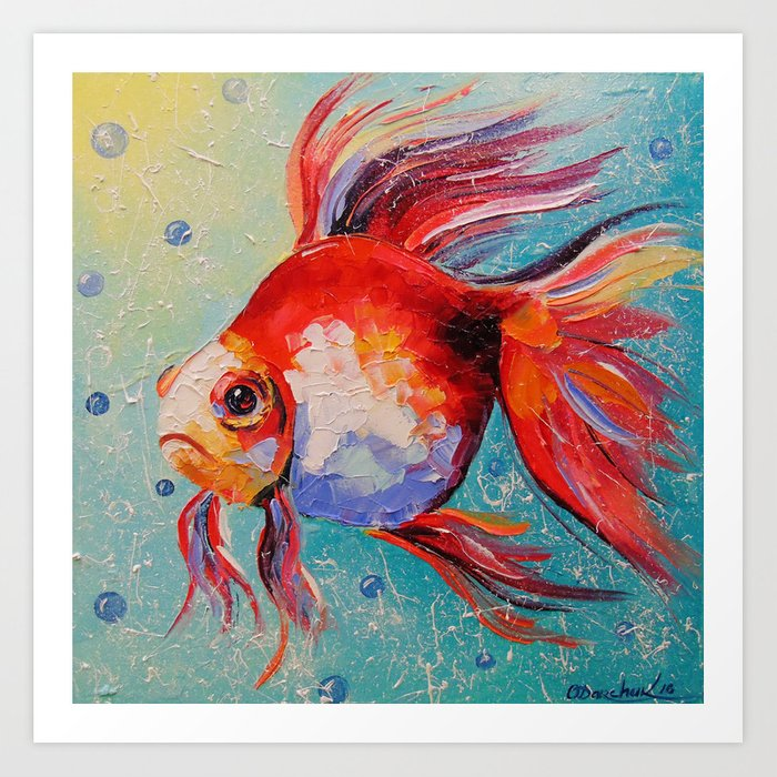 Gold fish Kunstdrucke