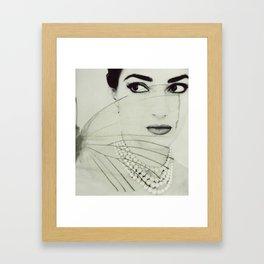 Madam Butterfly - Maria Callas Framed Art Print