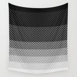 A lot of dots, like a lot. Then less dots. Lesser and lesser and lesser, untili no dblack dots anymo Wall Tapestry