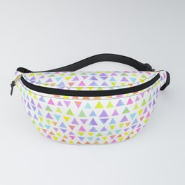 Vibrant Watercolor Triangles Pattern Fanny Pack