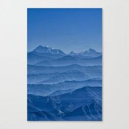 Blue Hima-layers Canvas Print