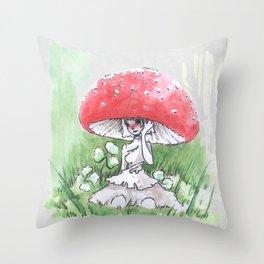 Empire of Mushrooms: Amanita Muscaria Throw Pillow