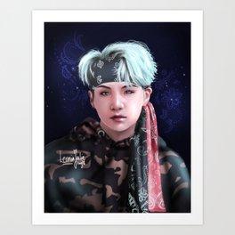 BTS - Mic Drop SUGA Art Print