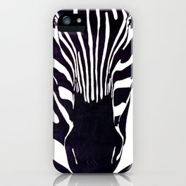 Zebra Painting  iPhone Case