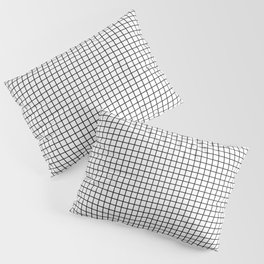 Black and White Grid Graph Pillow Sham