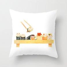 Maki Neko Throw Pillow