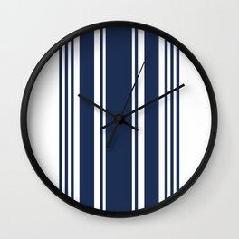 Navy & White Stripe Wall Clock