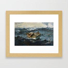 Winslow Homerr /  The Gulf Stream Framed Art Print