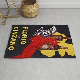 Florio CINZANO Vintage Ad 1930 Drink Poster Rug