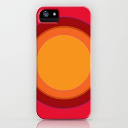 70s Retro Chic sunspot in Kapow Red! iPhone Case