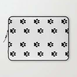Cat Paws - Cat Lovers Unite! Black and White Cat Art Laptop Sleeve