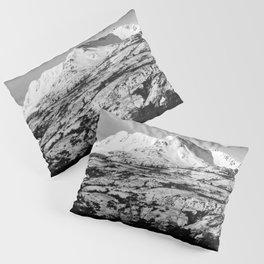 Black and White Mountain Photography Print Pillow Sham