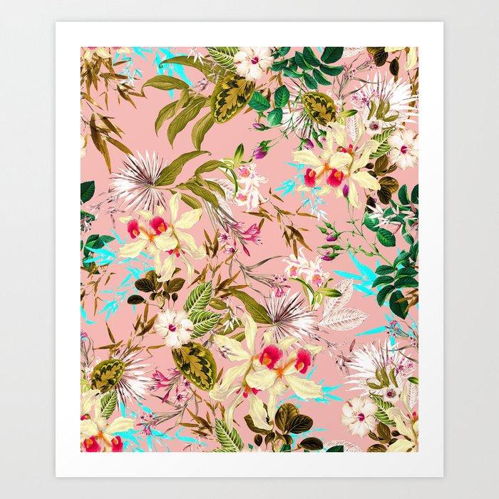 Gardenia #pattern #botanical Art Print