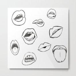 Sketchy Talk Metal Print