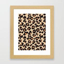 Leopard Print, Black, Brown, Rust and Tan Framed Art Print