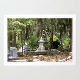 Savannah Ga Bonaventure Cemetery Art Print