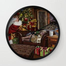 Snappy Santa Wall Clock