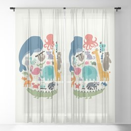We Are One Sheer Curtain