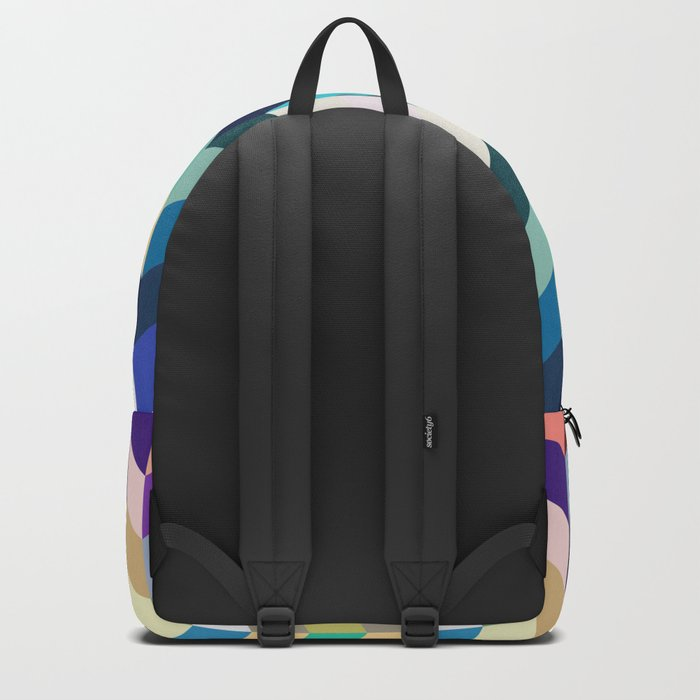 Colorful Geometric Background Backpack