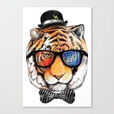 tiger nerd Canvas Print