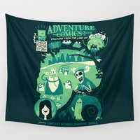 comics Wall Tapestries featuring Adventure Comics by jublin