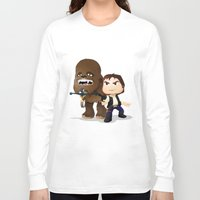 han solo Long Sleeve T-shirts featuring Han Solo & Chewbacca by 7pk2 online