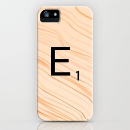 Scrabble E - Large Scrabble Tiles iPhone Case