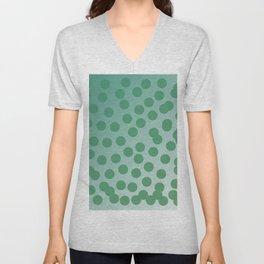 Design green dots emerald edition Unisex V-Neck