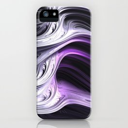 Amethyst Waves iPhone Case