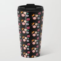 Doughnut Run Black Metal Travel Mug